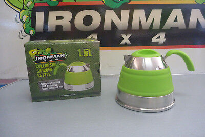 Ironman 4X4 Callapsible Silicone Kettle 1.5L - Green
