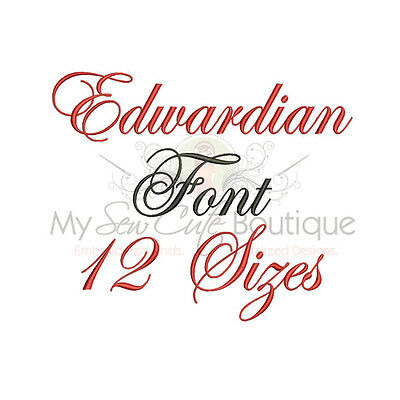 Edwardian Alphabet Embroidery Fonts Machine Embroidery Design - IMFCD19