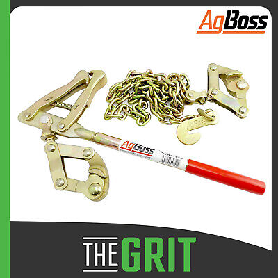 AgBoss Chain Wire Fence Strainer Plain Barb Electric Fence Energiser Repair Tool