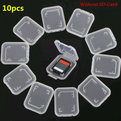 10x Transparent Plastic Standard SD SDHC Memory Card Case Holder Box Storage