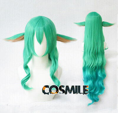 League of Legends LOL Soraka Star Guardian Cosplay Hair Wig + Ear Game