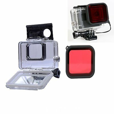 45M Waterproof Underwater Housing Case + Lens Filter Diving For Gopro Hero 5 & 6