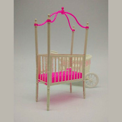 Sweet Baby Crib For Barbie Girls Doll Furniture Kelly Baby Doll Accessories