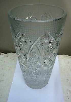 Large, very heavy lead crystal vase - 30cms tall weighs 3.5kilos