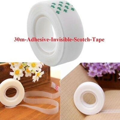 30m Adhesive Invisible Scotch Tape Mending Sealing Packing Home Industrial