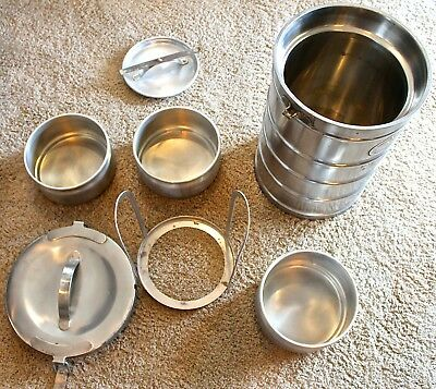 AerVoid Stainless Steel 7 piece / 1 Unit Thermal food carrier - Model 301