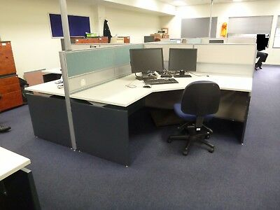 Office 4 Person x Workstation Screen and White Top (Pickup Narre Warren) 34618/4