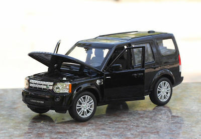 Land Rover Discovery Model Cars 1:24 Gift Alloy Diecast Front Steering Toy Black