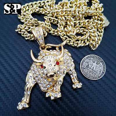 "New Iced Out Life after BIG death Pendant w//6mm36/"" Cuban Link Chain Necklace"
