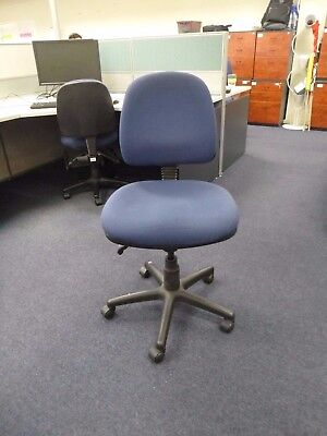 Set of 10 Office Clerical/Meeting Chair Blue Fabric (Pickup Narre Warren) 18A