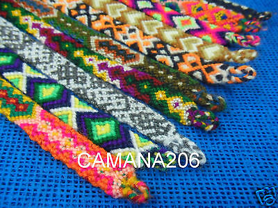 500 Peruvian 100 % Wool Friendship Bracelets Handmade In Cusco