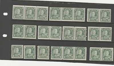 Canada 1930 Kgv 24 X Sg306 Selection Of Imperf X Perf 8.5 Mnh/mh Coils Stamps