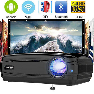 7000 Lumens LED Projector Multimedia 1080P Home Cinema Theater HDMI USB Uhappy