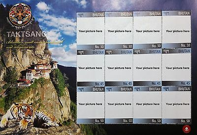 Bhutan Personalized Stamps (Your own picture on genuine Bhutanese stamps)