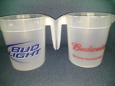 Lot of 5 Budweiser / Bud Light Beer plastic 46 ounce pitchers