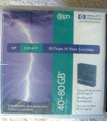 7x  HP C5141  DLT 40/80GB Tape IV Cartridges