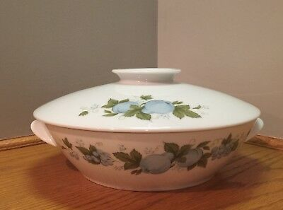 Noritake Blue Orchard Covered Large Bowl