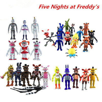 FNAF Five Nights at Freddy's Action Figures PVC Toy LED Light Decor Kid Gift Lot