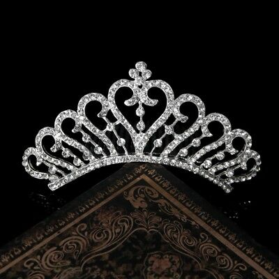 Wedding Elegant Flower Rhinestone Bridal Tiara Crown Comb For Prom Party Jewelry