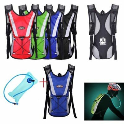 UK 2L Hydration Bladder Bag Hiking Camping Backpack Water Pouch Sports Rucksack
