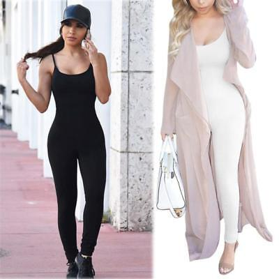 US Sexy Women Casual Sleeveless Jumpsuit Romper Bodycon Club Bodysuit Long Pants