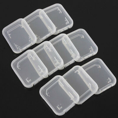 Transparent Standard SD SDHC Memory Card Case Holder Box Storage Plastic 10x