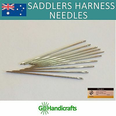 John James Leather Hand Sewing Saddlers Harness Needles Leathercraft