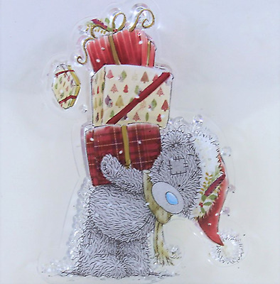 Clear cling stamp for Card making & stamping CHRISTMAS BEAR WITH GIFTS