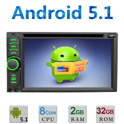 """Android 5.1 3G WIFI 6.2"""" Double 2DIN Car Radio Stereo DVD Player GPS Nav In dash"""