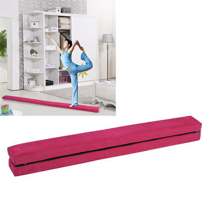 7ft/2.1m Leather Gymnastics Folding Balance Beam for Home / Gym Training Sports