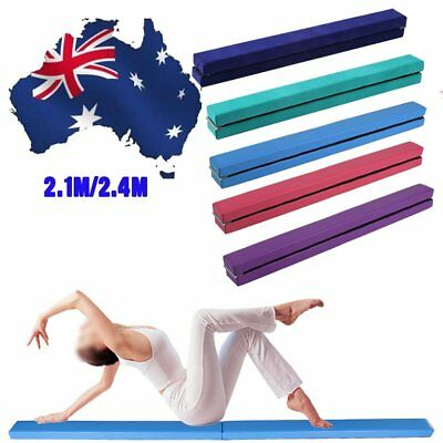 2.1M 7FT Gymnastics Folding Balance Beam Hard Wearing Home Gym Training Sports