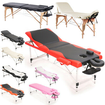 Warmiehomy Portable Folding Massage Tables Beauty Salon Tattoo Therapy Couch Bed