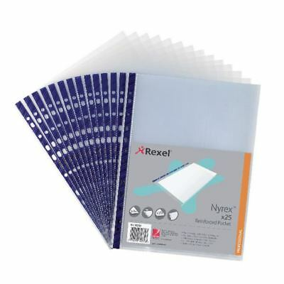 Rexel Nyrex Pocket PVC Open Top Clear (Pack of 25) NPRA4 12233 [RX12233]