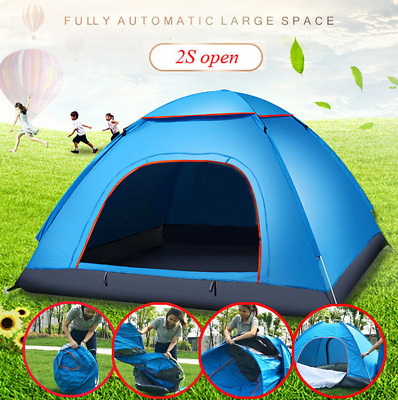 Automatic pop up tent 3 Person waterproof outdoor instant camping hiking travel