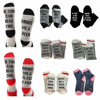 Funny socks - Wine Socks - If You Can Read This Bring Me A Glass Of Wine Beer d