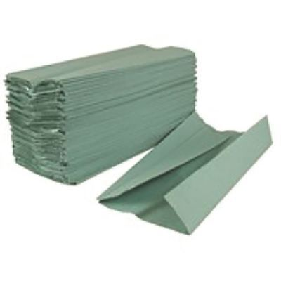 2Work Green 1-Ply C-Fold Hand Towel (Pack of 2880) HC128GR [KF03801]