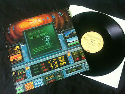 """Iron Maiden - Wasted Years 12"""" Europe 1986 VG+/EX"""