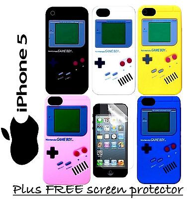 iPhone 5 5s Nintendo Gameboy Silicone Case Cover Multi Colours New