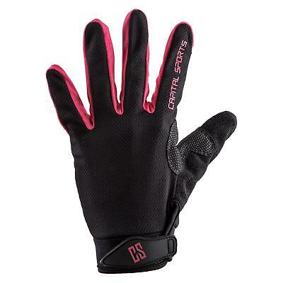Medium Leatherette Sport Gloves Pink Train Workout Gym Breathable Stretch Mesh