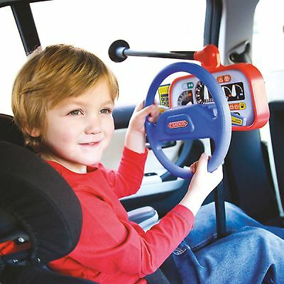 Kids Car Back Seat Backseat Driver Steering Wheel Toy Child Role Play Pretend