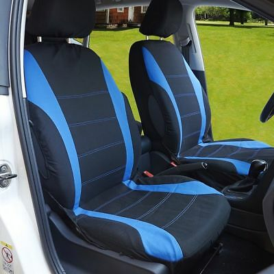 Blue Heavy Duty Car Seat Covers Protector Cushion Universal Full Set Front Rear