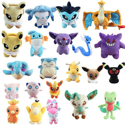 Pokemon Plush Toys Soft Stuffed Animal Snorlax Eevee Charizard Pikachu Cyndaquil
