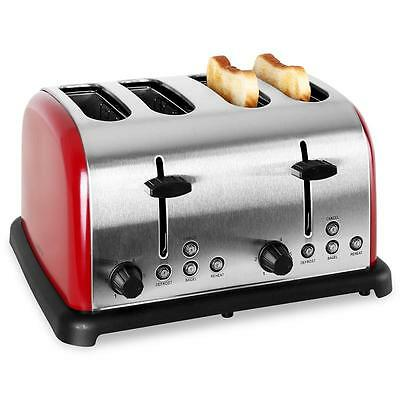 1650W Steel 4-Slice Toaster Extra Wide Slot Bagel Single Side Toasting Bread