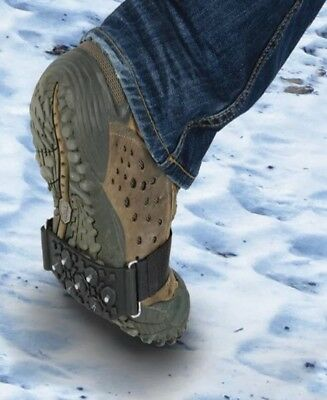 Shoe Grips Studs Studded Snow & Ice Grippers Shoes Boots Anti Slip Universal
