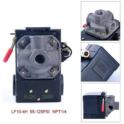 LEFOO Pressure Switch for Air Compressor 95-125 PSI Four PORT w/unloader