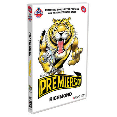 Premiers 2017 Richmond Tigers Grand Final Official AFL BRAND NEW SEALED R4 DVD