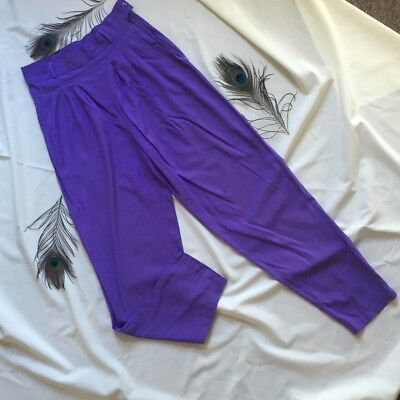 high waisted trousers , Purple Vintage Trousers