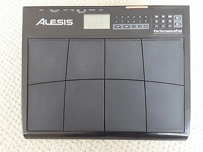 Alesis Performance Pad with mains adaptor and fitted  mount - little used