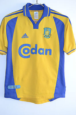 Brondby If Home 2000-2002 Vintage Adidas Football Shirt Jersey Trikot Size M