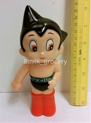 "Rare Vintage 70s Japan Astro Boy Mighty Atom 6"" Sofubi Piggy Bank Special Ver"
